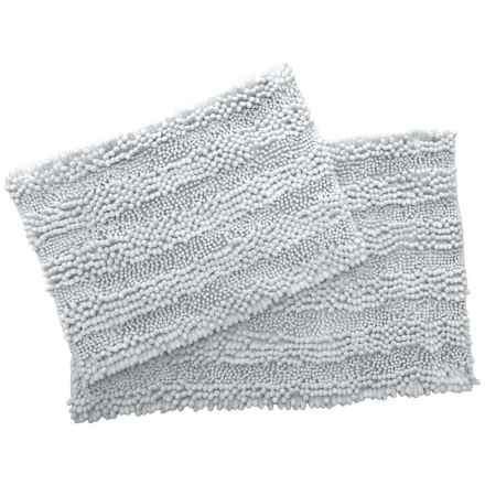 San Remo Highlo Chenille Bath Mats - 2-Pack, Silver in Silver - Closeouts
