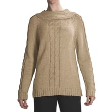 San York Alpaca Cable Sweater (For Women) in Beige - Closeouts