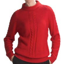 San York Alpaca Cable Sweater (For Women) in Red - Closeouts