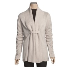 San York Alpaca Cardigan Sweater - Snap Front (For Women) in Ivory - Closeouts