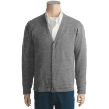 San York Alpaca Cardigan Sweater - V-Neck (For Men) in Grey - Closeouts