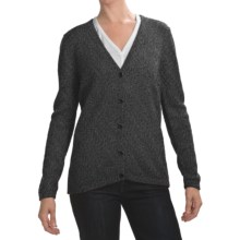 San York Alpaca Cardigan Sweater - V-Neck (For Women) in Grey - Closeouts