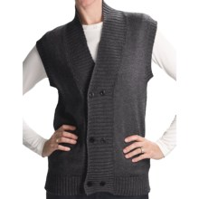 San York Alpaca Double-Button Vest (For Women) in Charcoal - Closeouts