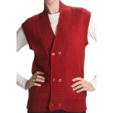 San York Alpaca Double-Button Vest (For Women) in Red - Closeouts