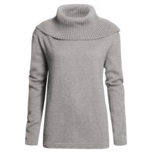 San York Alpaca Pullover Sweater - Cowl Neck (For Women) in Grey - Closeouts