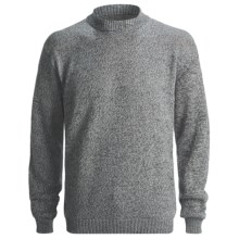 San York Alpaca Pullover Sweater - Crew Neck (For Men) in Salt/Pepper - Closeouts