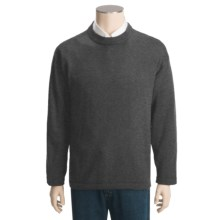 San York Alpaca Sweater - Crew Neck (For Men) in Charcoal - Closeouts