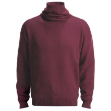 San York Alpaca Turtleneck Sweater (For Men) in Maroon - Closeouts