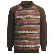 San York Geometric Pullover Sweater - Alpaca (For Men) in Multi - Closeouts