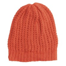 San York Honeycomb Beanie Hat - Alpaca (For Women) in Rust - Closeouts