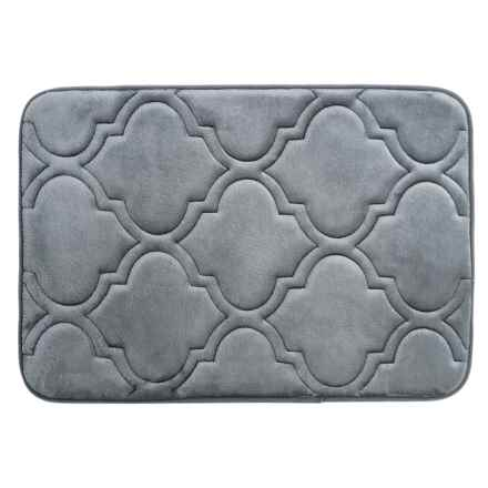"Sanctuary Collection Memory-Foam Bath Rug - 17x24"" in Charcoal - Closeouts"