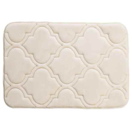 "Sanctuary Collection Memory-Foam Bath Rug - 17x24"" in Linen - Closeouts"
