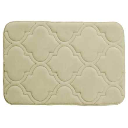"Sanctuary Collection Memory-Foam Bath Rug - 17x24"" in Sage - Closeouts"