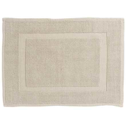 "Sanctuary Collection Woven Cotton Bath Mat - 17x24"" in Silver - Closeouts"