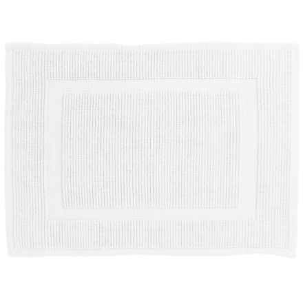 "Sanctuary Collection Woven Cotton Bath Mat - 17x24"" in White - Closeouts"