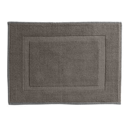 "Sanctuary Collection Woven Cotton Bath Mat - 21x34"" in Charcoal - Closeouts"