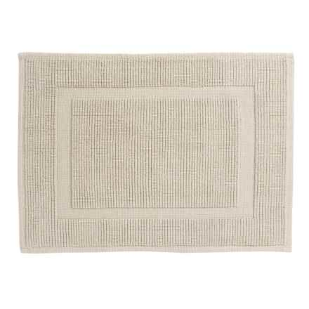 "Sanctuary Collection Woven Cotton Bath Mat - 21x34"" in Silver - Closeouts"