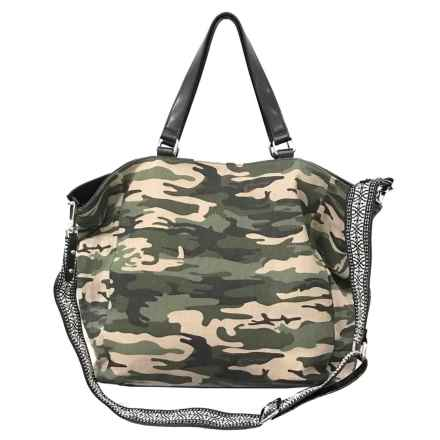 Sanctuary Downtown Tote Bag (For Women) in Camo Canvas/Black Vachetta - Closeouts