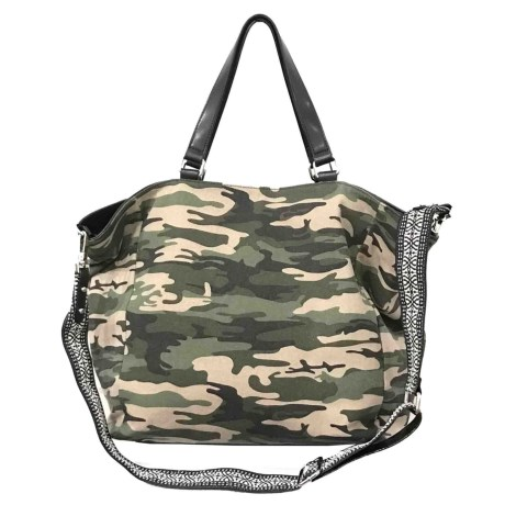 Sanctuary Downtown Tote Bag (For Women) in Camo Canvas/Black Vachetta