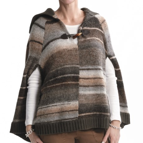 Sanctuary Striped Poncho (For Women) in Brown