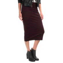 Sanctuary Striped Stretch Pencil Skirt (For Women) in Black/Burgandy Stripe - Overstock