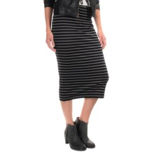 Sanctuary Striped Stretch Pencil Skirt (For Women) in Black/Grey Stripe - Overstock