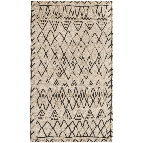 """Sanctuary Woven Accent Rug - 27x45"""" in Grey Shapes"""