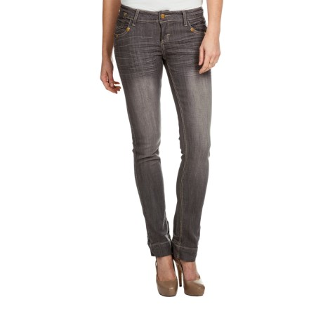 Sand Blast 702 Vegas Straight-Leg Denim Jeans - Stretch (For Women) in Grey