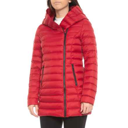 Sandova Canadian Designer Edela Asymmetrical Down Jacket - 700+ Fill Power (For Women) in Crimson - Closeouts