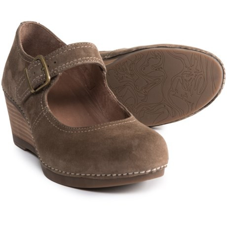 Sandra Wedge Mary Jane Shoes - Leather (For Women)