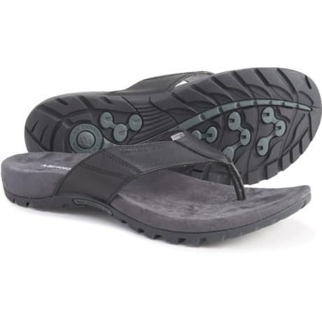 Sandspur Leather Thong Sandals (For Men) - BLACK (15 )