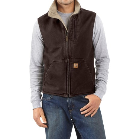 Sandstone Mock Neck Vest - Sherpa Lining, Factory Seconds (For Tall Men) thumbnail