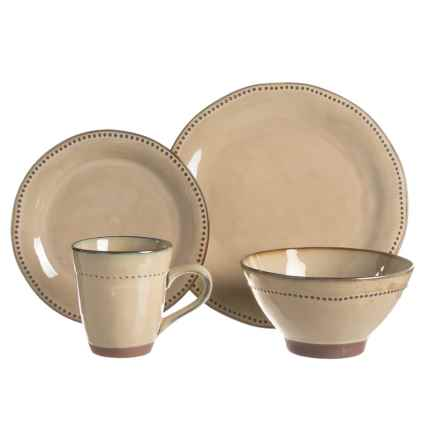 Sango Cyprus Stoneware Dinnerware Set - 16-Piece in Beige - Closeouts  sc 1 st  Sierra Trading Post & 222 Fifth Alpha Stoneware Dinnerware Set -16-Piece - Save 51%