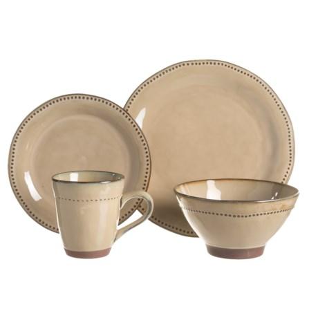 Sango Cyprus Stoneware Dinnerware Set - 16-Piece in Beige  sc 1 st  Sierra Trading Post & Sango Cyprus Stoneware Dinnerware Set - 16-Piece - Save 37%
