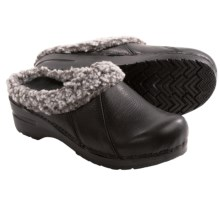 Sanita Appaloosa Clogs - Leather (For Women) in Black - Closeouts