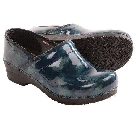 Sanita Ariana Professional Clogs - Leather (For Women) in Petrol