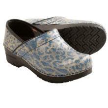 Sanita Bobbie Closed-Back Clogs (For Women) in Light Blue Cheetah - Closeouts