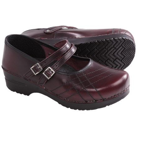 Sanita Claire Cabrio Clogs - Leather (For Women) in Bordeaux