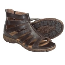 Sanita Dagny Gladiator Sandals - Leather (For Women) in Dark Brown - Closeouts
