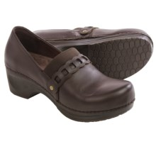 Sanita Daisy Dania Clogs - Leather (For Women) in Dark Brown - Closeouts