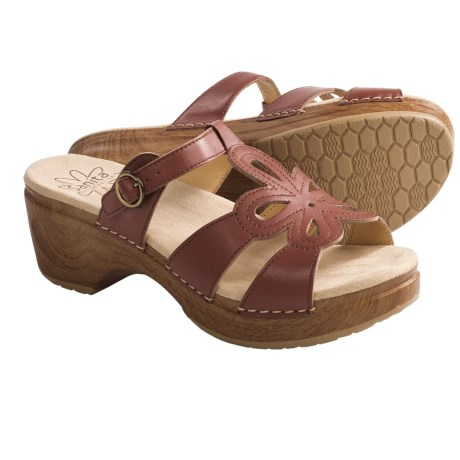 Sanita Dalia Sandals - Polished Leather (For Women) in Brown