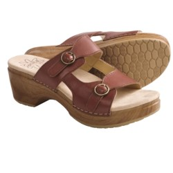 Sanita Deanna Sandals - Polished Leather (For Women) in Brown