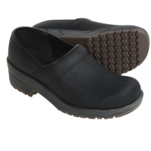 Sanita Leo Clogs - Leather (For Men) in Black - Closeouts