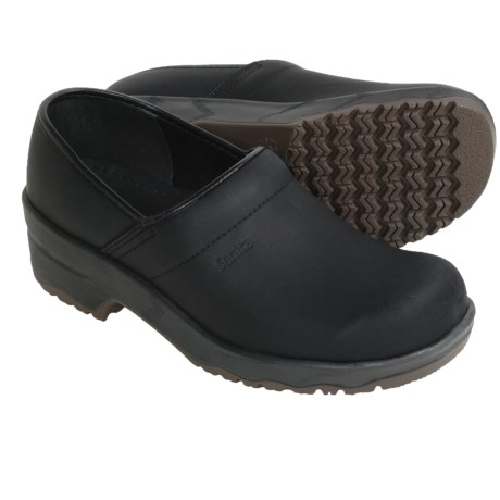 Sanita Leo Clogs - Leather (For Men) in Black