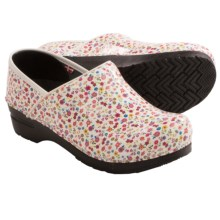 Sanita Lullaby Clogs - Patent Leather (For Women) in White - Closeouts