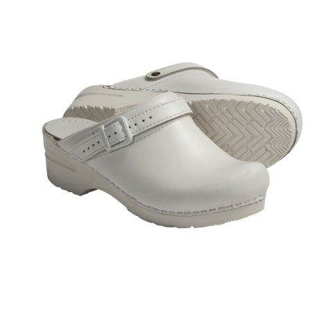 Sanita Morse Clogs - Leather (For Women) in White