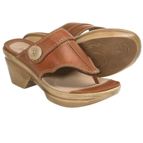 Sanita Nikka Sandals - Leather (For Women) in Orange