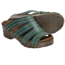 Sanita Original Mabel Sandals - Leather (For Women) in Jade - Closeouts
