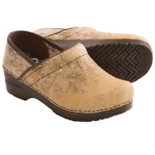 Sanita Original Professional Ozma Clogs - Leather (For Women) in Beige - Closeouts