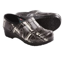 Sanita Original Professional Paisley Clogs - Closed Back (For Women) in Black - Closeouts